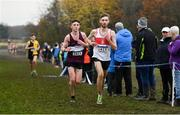 24 November 2019; Thomas Mc Stay of Galway City Harriers A.C., Co. Galway, right, and Jamie Battle of Mullingar Harriers A.C., Co. Westmeath , competing in the Junior Men's event during the Irish Life Health National Senior, Junior & Juvenile Even Age Cross Country Championships at the National Sports Campus Abbotstown in Dublin. Photo by Sam Barnes/Sportsfile