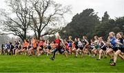 24 November 2019; A general view of runners competing in the U12 Girls event during the Irish Life Health National Senior, Junior & Juvenile Even Age Cross Country Championships at the National Sports Campus Abbotstown in Dublin. Photo by Sam Barnes/Sportsfile