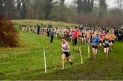 24 November 2019; Emily Bolton of Donore Harriers, leads the field whilst competing in the U12 Girls Event during the Irish Life Health National Senior, Junior & Juvenile Even Age Cross Country Championships at the National Sports Campus Abbotstown in Dublin. Photo by Sam Barnes/Sportsfile