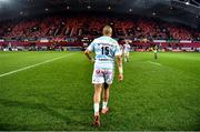 23 November 2019; Simon Zebo of Racing 92 after the Heineken Champions Cup Pool 4 Round 2 match between Munster and Racing 92 at Thomond Park in Limerick.