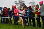 24 November 2019; Emily Bolton of Donore Harriers, Co. Dublin, competing in the U12 Girls Event,  during the Irish Life Health National Senior, Junior & Juvenile Even Age Cross Country Championships at the National Sports Campus Abbotstown in Dublin. Photo by Sam Barnes/Sportsfile