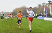 24 November 2019; Caolan McFadden of Cranford A.C., Co. Wexford, competing in the Boys U14 event during the Irish Life Health National Senior, Junior & Juvenile Even Age Cross Country Championships at the National Sports Campus Abbotstown in Dublin. Photo by Sam Barnes/Sportsfile
