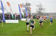 24 November 2019; Frank Buchanan of Enniskillen Running Club, Co. Fermanagh, competing in the Boys U14 event during the Irish Life Health National Senior, Junior & Juvenile Even Age Cross Country Championships at the National Sports Campus Abbotstown in Dublin. Photo by Sam Barnes/Sportsfile