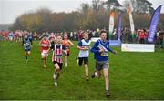 24 November 2019; Athletes competing in the U12 Boy's event during the Irish Life Health National Senior, Junior & Juvenile Even Age Cross Country Championships at the National Sports Campus Abbotstown in Dublin. Photo by Sam Barnes/Sportsfile