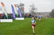 24 November 2019; Eva Crowe of Donore Harriers, Co. Dublin,  competing in the Girls U14 event during the Irish Life Health National Senior, Junior & Juvenile Even Age Cross Country Championships at the National Sports Campus Abbotstown in Dublin. Photo by Sam Barnes/Sportsfile