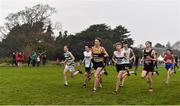 24 November 2019; Runners competing in the Boys U14 event during the Irish Life Health National Senior, Junior & Juvenile Even Age Cross Country Championships at the National Sports Campus Abbotstown in Dublin. Photo by Sam Barnes/Sportsfile