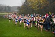 24 November 2019; Runners competing in the Girls U14 event during the Irish Life Health National Senior, Junior & Juvenile Even Age Cross Country Championships at the National Sports Campus Abbotstown in Dublin. Photo by Sam Barnes/Sportsfile
