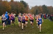 24 November 2019; Runners competing in the U16 Boys event during the Irish Life Health National Senior, Junior & Juvenile Even Age Cross Country Championships at the National Sports Campus Abbotstown in Dublin. Photo by Sam Barnes/Sportsfile