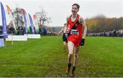 24 November 2019; Dara Donoghue of Lucan Harriers, Co. Dublin, on his way to winning the U16 Boys event during the Irish Life Health National Senior, Junior & Juvenile Even Age Cross Country Championships at the National Sports Campus Abbotstown in Dublin. Photo by Sam Barnes/Sportsfile