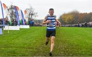 24 November 2019; Joel Chambers of Willowfield Harriers competing in the U16 Boys event during the Irish Life Health National Senior, Junior & Juvenile Even Age Cross Country Championships at the National Sports Campus Abbotstown in Dublin. Photo by Sam Barnes/Sportsfile