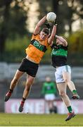 17 November 2019; Joseph O'Connor of Austin Stacks in action against Aidan O'Reilly of Nemo Rangers during the AIB Munster GAA Football Senior Club Championship semi-final match between Nemo Rangers and Austin Stacks at Páirc Ui Rinn in Cork. Photo by Eóin Noonan/Sportsfile
