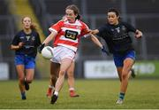 23 November 2019; Caoimhe Stewart of Naomh Pól in action against Amy Gavin Mangan of Naomh Ciaran during the All-Ireland Ladies Intermediate Club Championship Final match between Naomh Ciaran and Naomh Pól at Kingspan Breffni in Cavan. Photo by Harry Murphy/Sportsfile