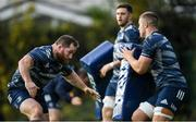 25 November 2019; Michael Bent, left, and Scott Penny during Leinster Rugby squad training at UCD in Dublin. Photo by Ramsey Cardy/Sportsfile