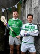 26 November 2019; Ballyhale Shamrocks and Kilkenny hurler Colin Fennelly, right, is pictured with St. Mullins and Carlow hurler Marty Kavanagh ahead of the AIB Leinster Senior Hurling Club Championship Final where they face St. Mullins of Carlow on Sunday December 1st at O'Moore Park, Portlaoise. AIB is in its 29th year sponsoring the GAA Club Championship and is delighted to continue to support the Junior, Intermediate and Senior Championships across football, hurling and camogie. For exclusive content and behind the scenes action throughout the AIB GAA & Camogie Club Championships follow AIB GAA on Facebook, Twitter, Instagram and Snapchat. Photo by Sam Barnes/Sportsfile