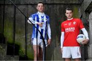 26 November 2019; Ballyboden St. Endas footballer Ryan Basquel, left, is pictured with Éire Óg and Carlow footballer Sean Gannon ahead of the AIB Leinster Senior Football Club Championship Final where they face Ballyboden St. Endas of Dublin on Sunday December 8th. AIB is in its 29th year sponsoring the GAA Club Championship and is delighted to continue to support the Junior, Intermediate and Senior Championships across football, hurling and camogie. For exclusive content and behind the scenes action throughout the AIB GAA & Camogie Club Championships follow AIB GAA on Facebook, Twitter, Instagram and Snapchat. Photo by Sam Barnes/Sportsfile