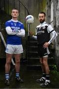 26 November 2019; Naomh Conaill and Donegal footballer Leo McLoone, left, is pictured with Kilcoo and former Down footballer Conor Laverty ahead of the AIB Ulster Senior Football Club Championship Final where they face Kilcoo of Down on Sunday December 1st at Healy Park, Omagh. AIB is in its 29th year sponsoring the GAA Club Championship and is delighted to continue to support the Junior, Intermediate and Senior Championships across football, hurling and camogie. For exclusive content and behind the scenes action throughout the AIB GAA & Camogie Club Championships follow AIB GAA on Facebook, Twitter, Instagram and Snapchat. Photo by Sam Barnes/Sportsfile