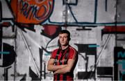 26 November 2019; Danny Grant during the Bohemians FC 2020 jersey launch at Dalymount Park in Dublin. Photo by Eóin Noonan/Sportsfile