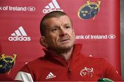26 November 2019; Munster forwards coach Graham Rowntree during a Munster Rugby squad press conference at University of Limerick in Limerick. Photo by Matt Browne/Sportsfile