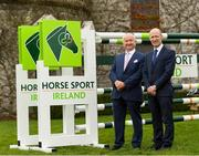 28 November 2019; Joe Reynolds, Chairman of Horse Sport Ireland, left, and Ronan Murphy, CEO of Horse Sport Ireland, at the HSI Rebrand Launch and Medal Reception 2019 at Killashee House Hotel in Naas, Co Kildare. Photo by Matt Browne/Sportsfile