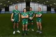 28 November 2019; Ireland Rugby Sevens players, from left, Terry Kennedy, Lucy Mulhall, Billy Dardis and Eve Higgins pictured during a Ireland Rugby Sevens Media Opportunity at IRFU High Performance Centre, National Sports Campus in Abbottstown, Dublin. Photo by Harry Murphy/Sportsfile