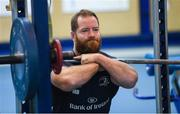3 December 2019; Michael Bent during a Leinster Rugby gym session at Leinster Rugby Headquarters in UCD, Dublin. Photo by Ramsey Cardy/Sportsfile
