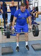 3 December 2019; Seán Cronin during a Leinster Rugby gym session at Leinster Rugby Headquarters in UCD, Dublin. Photo by Ramsey Cardy/Sportsfile