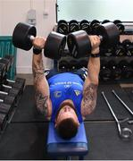 3 December 2019; Andrew Porter during a Leinster Rugby gym session at Leinster Rugby Headquarters in UCD, Dublin. Photo by Ramsey Cardy/Sportsfile