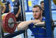 3 December 2019; Peter Dooley during a Leinster Rugby gym session at Leinster Rugby Headquarters in UCD, Dublin. Photo by Ramsey Cardy/Sportsfile