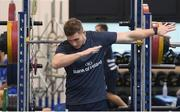 3 December 2019; Jordan Larmour during a Leinster Rugby gym session at Leinster Rugby Headquarters in UCD, Dublin. Photo by Jamison Gibson-Park/Sportsfile