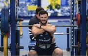 3 December 2019; Robbie Henshaw during a Leinster Rugby gym session at Leinster Rugby Headquarters in UCD, Dublin. Photo by Ramsey Cardy/Sportsfile