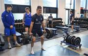 3 December 2019; Jonathan Sexton during a Leinster Rugby gym session at Leinster Rugby Headquarters in UCD, Dublin. Photo by Ramsey Cardy/Sportsfile