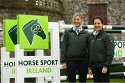 28 November 2019; Kate Dwyer, left, and Anna Mervedlt from the Senior Dressage Team at the HSI Rebrand Launch and Medal Reception 2019 at Killashee House Hotel in Naas, Co Kildare. Photo by Matt Browne/Sportsfile