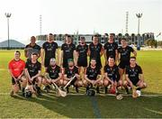 29 November 2019; The 2018 PwC All-Star team before the start of the PwC All Star Hurling Tour 2019 All Star game at Zayed Sport City in Abu Dhabi, United Arab Emirates. Photo by Ray McManus/Sportsfile