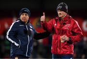 29 November 2019; Munster forwards coach Graham Rowntree with Edinburgh Rugby head coach Richard Cockerill before the Guinness PRO14 Round 7 match between Munster and Edinburgh at Irish Independent Park in Cork. Photo by Matt Browne/Sportsfile