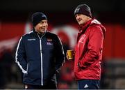 29 November 2019; Edinburgh rugby head coach Richard Cockerill with Munster forwards coach Graham Rowntree before the Guinness PRO14 Round 7 match between Munster and Edinburgh at Irish Independent Park in Cork. Photo by Matt Browne/Sportsfile