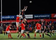 29 November 2019; Ben Toolis of Edinburgh takes the ball in the lineout against Munster during the Guinness PRO14 Round 7 match between Munster and Edinburgh at Irish Independent Park in Cork. Photo by Matt Browne/Sportsfile