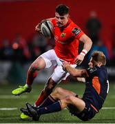 29 November 2019; Calvin Nash of Munster is tackled by Jaco van der Walt of Edinburgh during the Guinness PRO14 Round 7 match between Munster and Edinburgh at Irish Independent Park in Cork. Photo by Matt Browne/Sportsfile