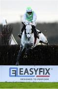 30 November 2019; Avenir D'Une Vie, with Jack Kennedy up, jumps the last on their way to winning the EasyFix Handicap Steeplechase on Day One of the Fairyhouse Winter Festival at Fairyhouse Racecourse in Ratoath, Meath. Photo by Harry Murphy/Sportsfile