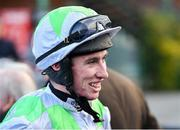 30 November 2019; Jockey Jack Kennedy after winning the EasyFix Handicap Steeplechase on Avenir D'Une Vie during Day One of the Fairyhouse Winter Festival at Fairyhouse Racecourse in Ratoath, Meath. Photo by Seb Daly/Sportsfile