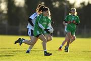 30 November 2019; Trina Duggan of Leinster in action against Connacht during the Ladies Football Interprovincial Round 2 match between Connacht and Leinster at Kinnegad in Co Westmeath. Photo by Matt Browne/Sportsfile
