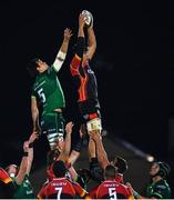 30 November 2019; Elrigh Louw of Southern Kings contests a line-out with Quinn Roux of Connacht during the Guinness PRO14 Round 7 match between Connacht and Isuzu Southern Kings at The Sportsground in Galway. Photo by Eóin Noonan/Sportsfile