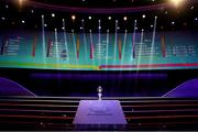 30 November 2019; The Henri Delaunay Trophy prior to the UEFA EURO 2020 Final Draw Ceremony in Bucharest, Romania. Photo by UEFA via Sportsfile