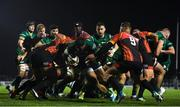 30 November 2019; Bundee Aki of Connacht scores his side's first try despite the tackle of Stefan Ungerer of Southern Kings during the Guinness PRO14 Round 7 match between Connacht and Isuzu Southern Kings at The Sportsground in Galway. Photo by Eóin Noonan/Sportsfile