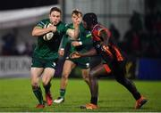 30 November 2019; Angus Lloyd of Connacht in action against Thembelani Bholi of Southern Kings during the Guinness PRO14 Round 7 match between Connacht and Isuzu Southern Kings at The Sportsground in Galway. Photo by Eóin Noonan/Sportsfile