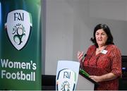 30 November 2019; Frances Smith, Chairperson of the FAI's Women's Football Committee, during the Women in Football - Emerging Leaders Programme at the FAI Headquarters in Abbotstown, Dublin. Photo by Stephen McCarthy/Sportsfile