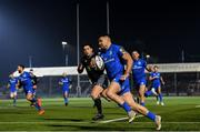 30 November 2019; Cian Kelleher of Leinster on his way to scoring his side's first try during the Guinness PRO14 Round 7 match between Glasgow Warriors and Leinster at Scotstoun Stadium in Glasgow, Scotland. Photo by Ramsey Cardy/Sportsfile