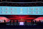 30 November 2019; The final draw during of the UEFA EURO 2020 Final Draw Ceremony in Bucharest, Romania. Photo by UEFA via Sportsfile