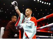 30 November 2019; Carl Frampton and Tyler McCreary during their super-featherweight bout at the Cosmopolitan of Las Vegas in Las Vegas, Nevada, United States. Photo by Mikey Williams/Top Rank/Sportsfile