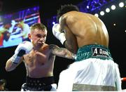 30 November 2019; Carl Frampton, left, and Tyler McCreary during their super-featherweight bout at the Cosmopolitan of Las Vegas in Las Vegas, Nevada, United States. Photo by Mikey Williams/Top Rank/Sportsfile