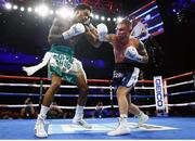 30 November 2019; Carl Frampton, right, and Tyler McCreary during their super-featherweight bout at the Cosmopolitan of Las Vegas in Las Vegas, Nevada, United States. Photo by Mikey Williams/Top Rank/Sportsfile